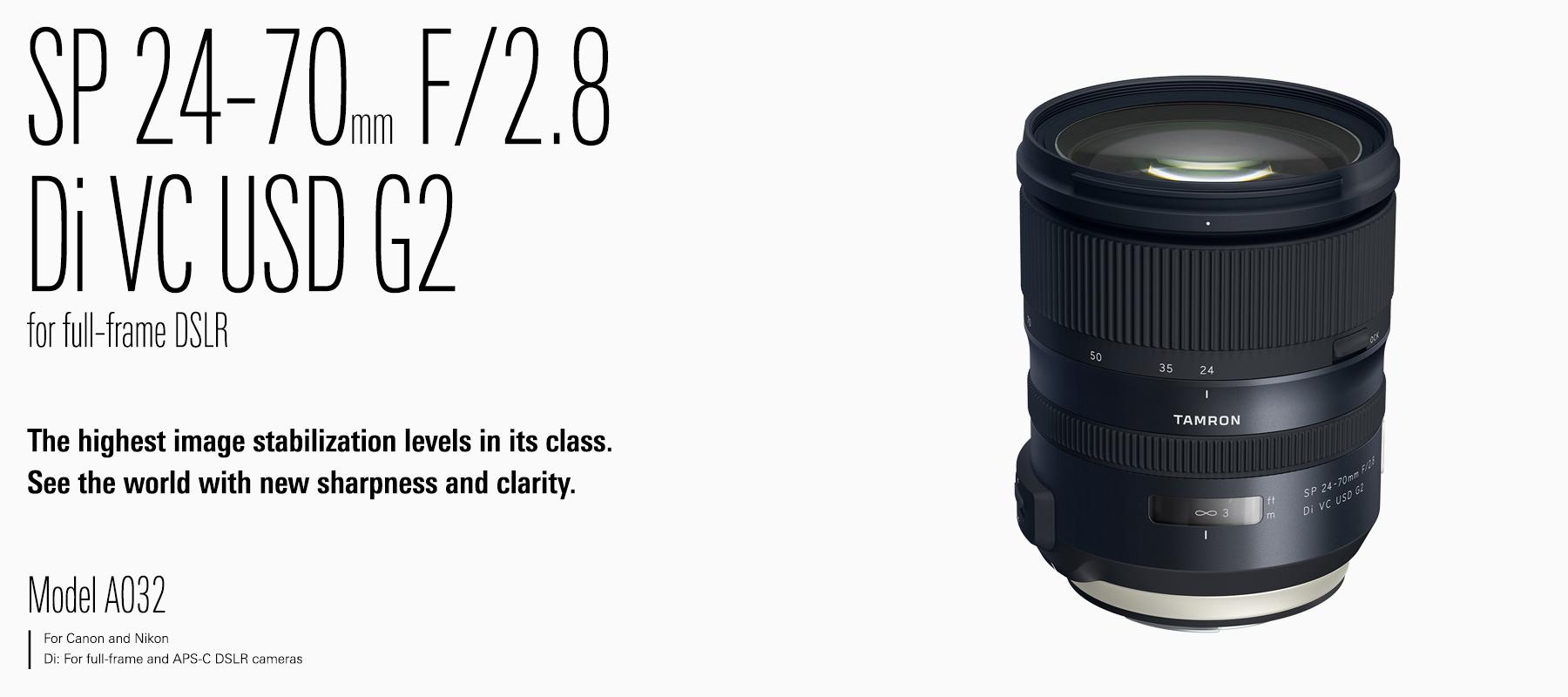 TAMRON | SP 24-70mm F/2.8 Di VC USD G2
