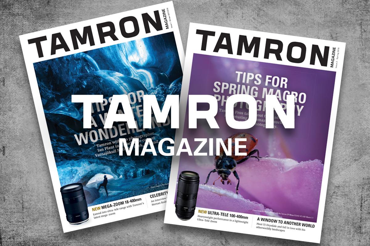 Tamron.  - Magazine cover